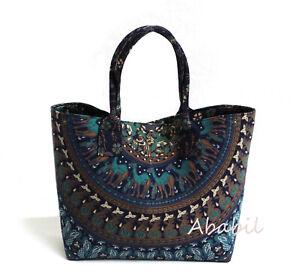 New Indian Hippie Camel Mandala Cotton Beach Purse Hobo Bag Women Shopping Bags