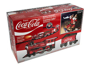 LIONEL COCA-COLA HOLIDAY TRAIN SET BATTERY ENGINE W/SOUND G-GAUGE 7-11488