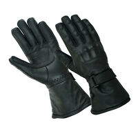 Gallanto Black Motorcycle Armoured Thinsulate Leather Winter Gloves Motorbike