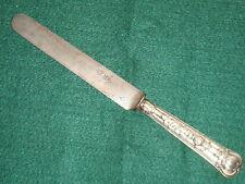 Rare couteau avec manche en ARGENT MASSIF fourre Art deco style CHRISTOFLE
