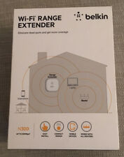 Belkin N300 WI-FI Plug In Range Extender New In Box