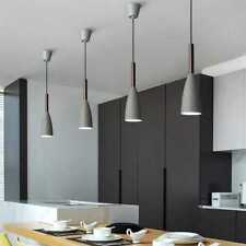 Kitchen Wood Pendant Lighting Bar Pendant Light Grey Lamp Modern Ceiling Lights