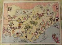 Carte de France Illustrées d'après Pinchon Arles Bouillabaisse Marseille Cannes.