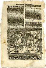 Rare Antique Print-LORD OF BREDERODE-HOLLAND-CONQUEST-Doppere-Vorsterman-1531
