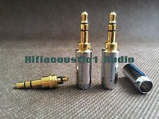 1pair Sennheiser Gold Plated 3.5mm Male Stereo Mini Jack Plug Earphone Cable