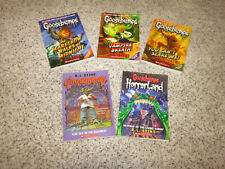5 Chapter books by R.L. Stine Goosebumps and Horrorland softcover books