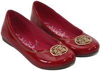 Catwalk Womens Ladies Red Patent Slip On Ballet Flats Size 38 US 7.5
