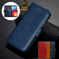 For LG G7 ThinQ G6 V30 Q6 Phone Case Magnetic Flip Leather Wallet Stand Cover