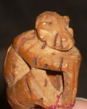 Hand Carved Seed Monkey Ooak 1:12 Miniature Last Vintage Broken Tail Butt Tack