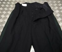 """Genuine British Military Issue No1 Green 1"""" Stripe Dress Trousers Blues Parade"""