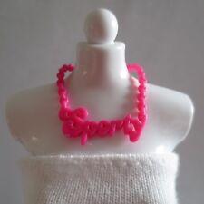 ADD ON ITEM! NEW Barbie Fashionista Doll Pink Sporty Necklace Jewelry Accessory