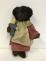 Joanne C. Mitchell Family Tree Bears Vintage Brown Teddy Bear w/Doll - Signed