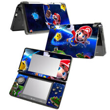 For Nintendo 3DS Super Mario Screen Protective Stickers Vinyl Skin Decal Set