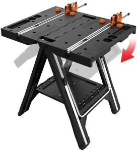 Multi-Function Work Table Home Garage Workshop Quick Clamps Holding Pegs New