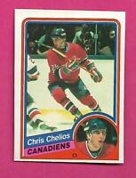 1984-85 OPC # 259 CANADIENS CHRIS CHELIOS  ROOKIE EX-MT CARD (INV# D0828)