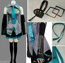 Vocaloid Hatsune Miku Cosplay Costume full set + Headphone @@@61