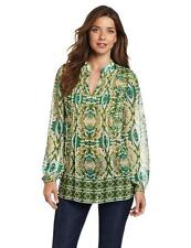 JONES NEW YORK Tunic Women's S SMALL Long Sleeve Blouse Sheer Shirt Top nwt