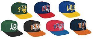 NEW NFL Mitchell & Ness Tri-pop Snapback Hat Cap Authentic