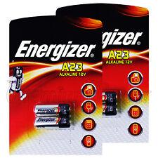 4 X Energizer Alcaline A23 Piles 12V E23A GP23A MN21 V23GA Alarme Paquet de 2