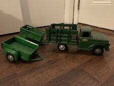 Vintage Tonka Toys Farm Stake Truck and Trailers
