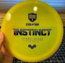 Discmania Evolution Instinct - Fairway Driver - S7 G5 T0 F2 - Neon Yellow!