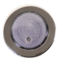RV Boat Marine 12V Waterproof 3 LED's Light Round Prismatic Push Lens ON / OFF