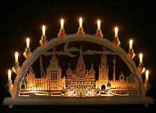 Schwibbogen Moskau 68cm Stadtansicht Wahrzeichen Basilius-Kathedrale Erzgebirge