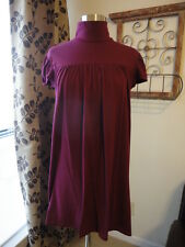 SUSANA MONACO Burgundy Merlot Turtleneck Dress Size M SHIPS FREE!!