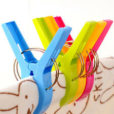 Set of 4 Plastic Beach Towel Clip Sun Lounger Sunbed Peg Pool Pegs Outdoor Tool