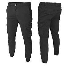 Pantaloni Uomo con Tasche Laterali Cargo jeans COTONE Tasconi Multitasche
