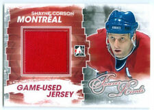 """SHAYNE CORSON """"RED GAME USED JERSEY CARD"""" FOREVER RIVALS CANADIENS"""