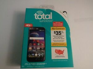 "NEW Total Wireless ZTE ZMAX Champ 4G LTE Prepaid Smartphone w/ Huge 5.5"" Screen"
