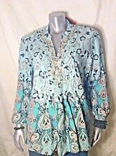Macy's Tunic Baby Blue & Turquoise  Beaded SZ18 New W/Tag SZ 16 Your Choice!