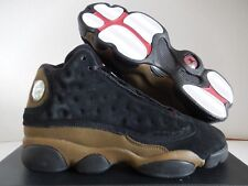NIKE AIR JORDAN 13 RETRO BG BLACK-GYM RED-OLIVE 5.5Y-WOMENS SZ 7 [884129-006]