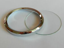 88mm Dia  Bezel & Glass for VEGLIA Triumph T140 M/Cycle Speedo
