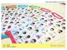 #33 cute wandoocong cartoon pvc stickers notebook diary decoration 6 sheets