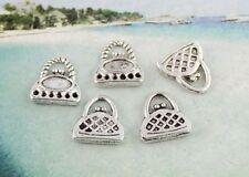 30pcs tibetan silver cute handbag charms FC8550