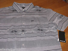 Men's Hurley short sleeve button up shirt S Parton SS Woven MVS0001010 NEW surf
