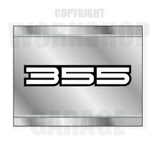HOLDEN 355 WHITE  LETTERS METAL LOOK - Stickers