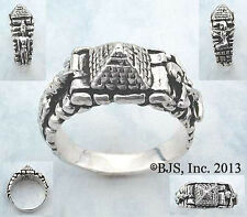 Silver Pyramid Ring, Isis and Osiris, Egyptian Gods, Egyptian Jewelry, Your Size