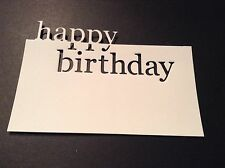 10 x Memory Box die cuts Grand Happy Birthday **FREE POSTAGE***