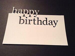 8 x Memory Box DIE CUTS Grand Happy Birthday **FREE UK POSTAGE** NOT THE DIE