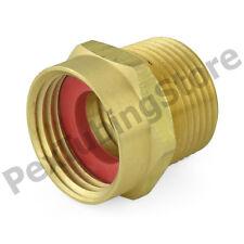 "3/4"" Female Garden Hose x 3/4"" MIP (tapped 1/2"" FIP) Brass Adapter Fitting"