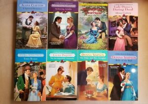 Lot of 8 Zebra traditional regency romances, various authors - sweet & clean