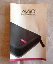 AViiQ Portable Charging Hub Station Zippered Case Bag Instructions Wall Adapter
