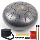 Steel Tongue Drum 10 inch 11 Notes C Tune Percussion Instrument W/ Drum Mallets