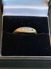 Antique 18ct Gold & Diamond Boat Shaped Ring