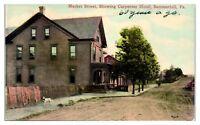 Early 1900s Market Street showing Carpenter Hotel, Summerhill, PA Postcard