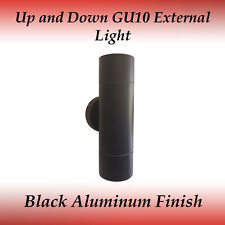 2 Light Up and Down IP65 GU10 External Wall Light in Black