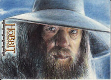 Hobbit Desolation of Smaug GANDALF Artist Proof Sketch Card by Rich Salvucci